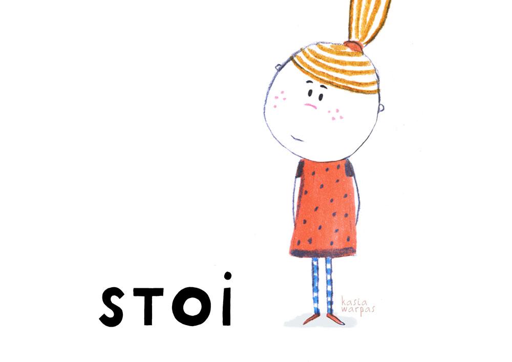 Uczę czytania z Głoską i Bebe: STOI