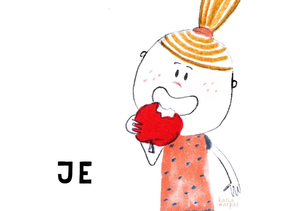 Uczę czytania z Głoską i Bebe: JE