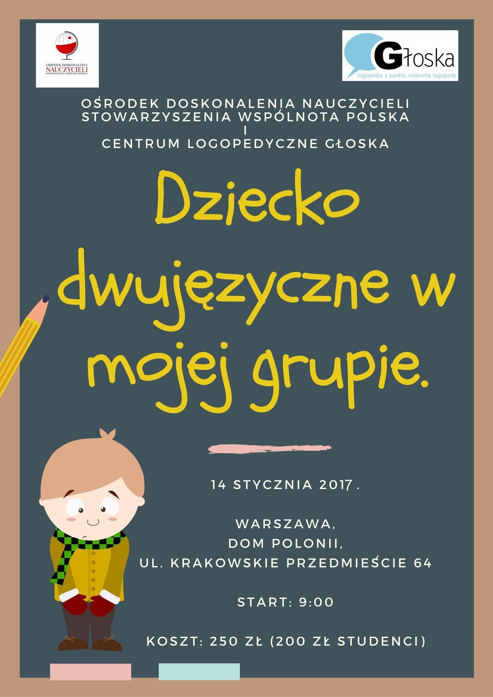 Cykl szkoleń dla logopedów inauczycieli zPolski
