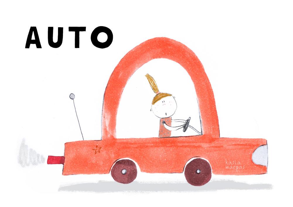 Uczę czytania z Głoską i Bebe: AUTO